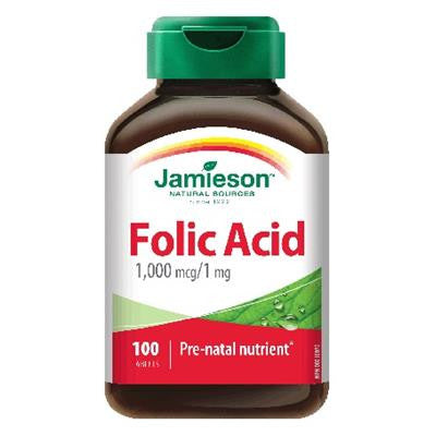 Jamieson Folic Acid 1000 mcg 100 Tablets