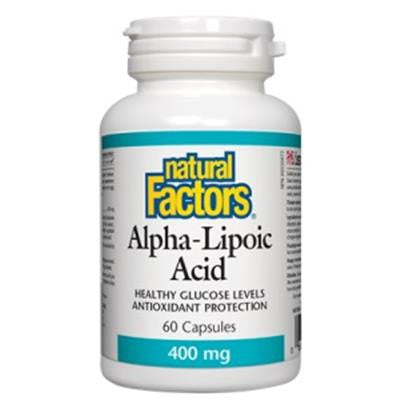 Natural Factors Alpha-Lipoic Acid 400mg 60 Capsules