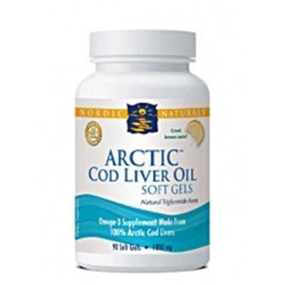 Nordic Naturals Arctic Cod Liver Oil™ Lemon Flavour 90 Softgels