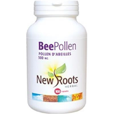 New Roots Bee Pollen 500 mg 100 Capsules