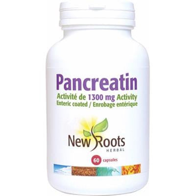 New Roots Pancreatin 1300 mg 60 Capsules