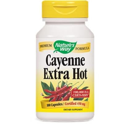 Nature's Way Cayenne Extra Hot 100 Capsules