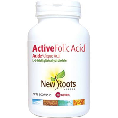 New Roots Active Folic Acid (I-5-Methyletrahydrofolate) 60 Capsules