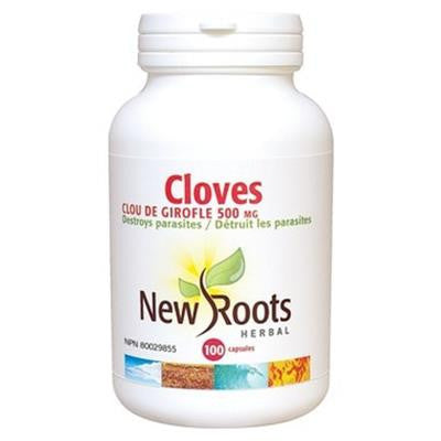 New Roots Cloves 500 mg 100 Capsules