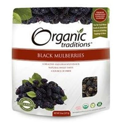 Organic Traditions® Dried Black Mulberries 227g