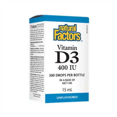 Natural Factors Vitamin D3 Drops 400IU 15ml