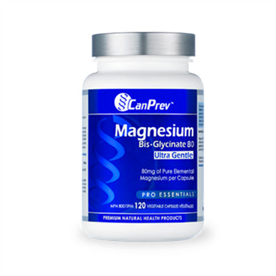 Canprev Magnesium Bis-GLycinate 80 Ultra Gentle 120 VCapsules
