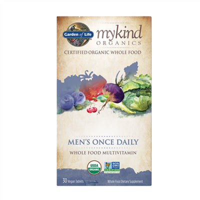 Garden of Life MyKind Organics Multivitamin Men's Once Daily 30 Vegan Tablets