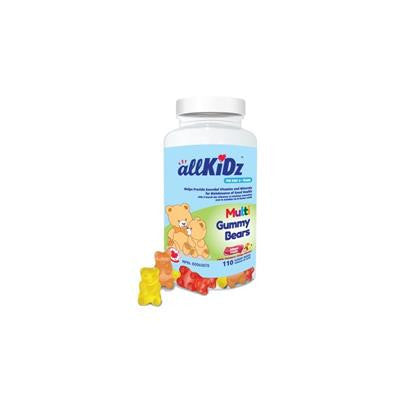 AllKidz Multi Gummy Bears 110 Gummies