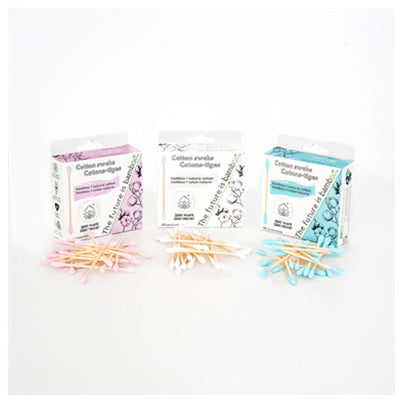 The Future is Bamboo Natural Cotton Swabs 100 pcs