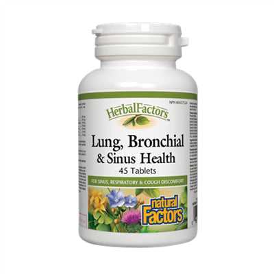 Natural Factors Lung, Bronchial & Sinus Health 45 Tablets