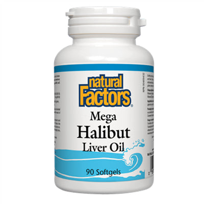 Natural Factors Mega Halibut Liver Oil 90 Softgels
