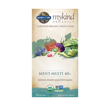 Garden of Life MyKind Organics Multivitamin Men's 40+ Whole Food 60 Vegan Tablets