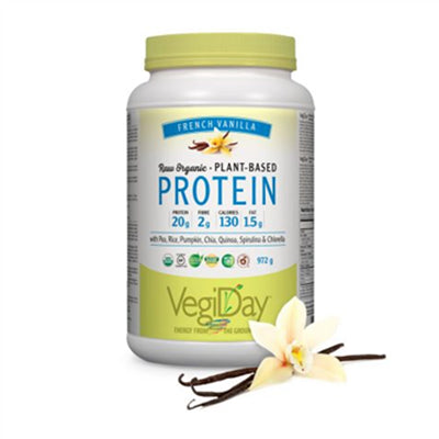 VegiDay Raw Organic Plant Protein  French Vanilla 972g