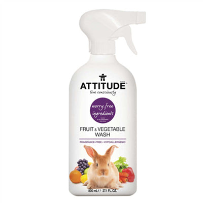 Attitude Fruit & Vegetable Wash Fragrance-Free 800ml
