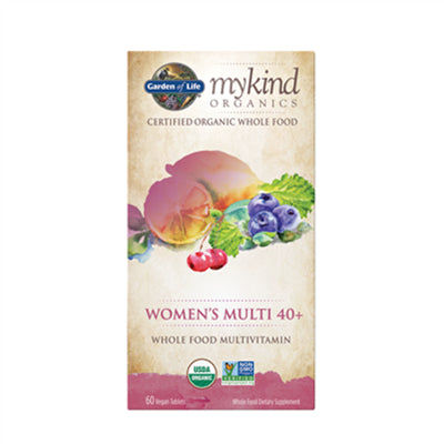 Garden of Life MyKind Organics Multivitamin Women's 40+ Whole Food 60 Vegan Tablets