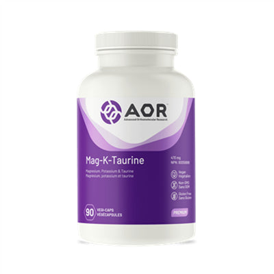 AOR Mag-K-Taurine 500mg 90 VCapsules