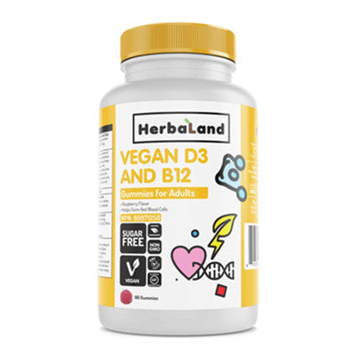 Herbaland Adult Vegan D3 + B12 90 Gummies