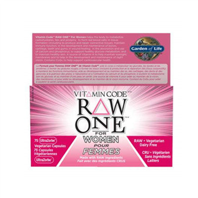 Garden Of Life Vitamin Code Raw One for Women 75 VCaps