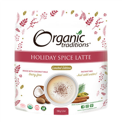 Organic Traditions Holiday Spice Latte Limited Edition 150g