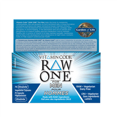 Garden Of Life Vitamin Code Raw One for Men 75 VCaps