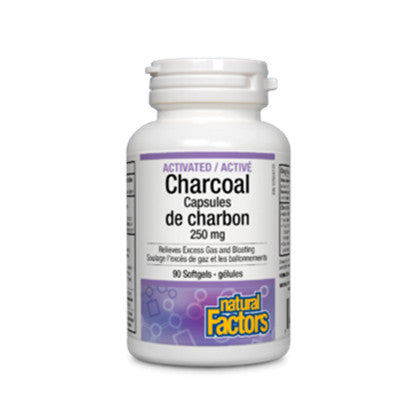Natural Factors Activated Charcoal 250mg 90 Capsules