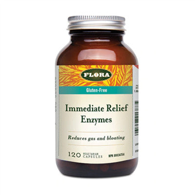 Flora Immediate Relief Digestive Enzymes 120 Vcaps