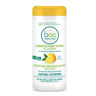 Boo Disinfectant Wipes Lemon 35 Counts
