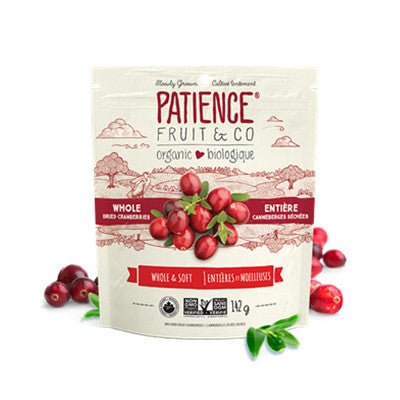 Patience Fruit & Co. Organic Dried Cranberries 142g