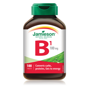 Jamieson Vitamin B1 100mg (Thiamine) 100 Tablets