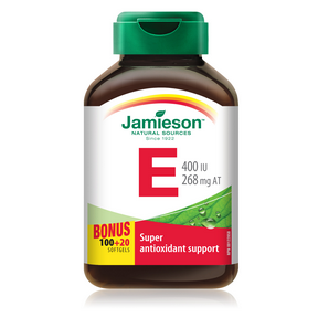 Jamieson Vitamin E 400 IU/268 mg AT 100+20 Softgel