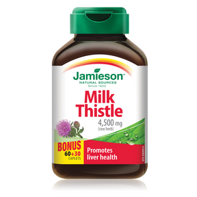 Jamieson Milk Thistle 4,500 mg 60+30 Caplets