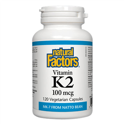 Natural Factors Vitamin K2 100 mcg 120 VCapsules