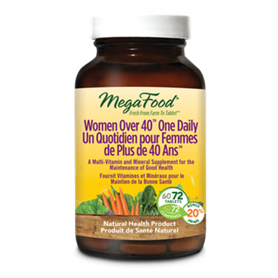 MegaFood Women Over 40 One Daily 72 Tablets