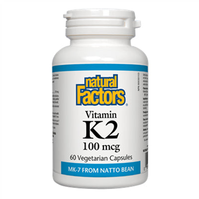 Natural Factors Vitamin K2 100 mcg 60 VCapsules