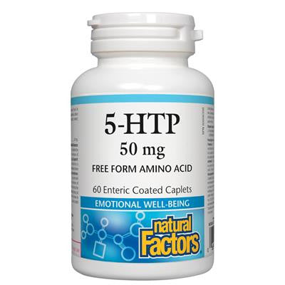 Natural Factors 5-HTP 50mg 60 Caplets