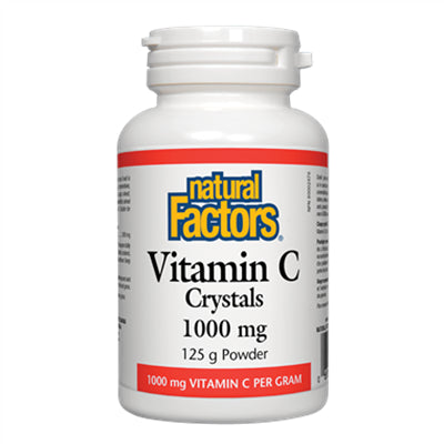Natural Factors Vitamin C 1000 mg Crystals Powder 125g
