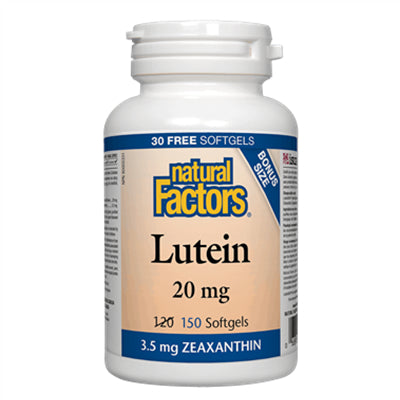 Natural Factors Lutein 20mg 120+30 Softgels