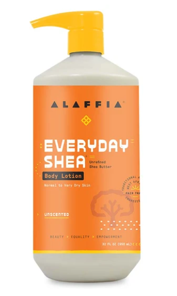 Alaffia Unscented Shea & Lemongrass Body Lotion 950ml