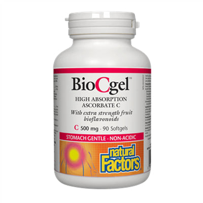 Natural Factors BioCgel High Absorption Ascorbate C 500mg 90 Softgels