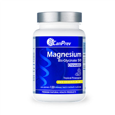 Canprev Magnesium Bis-Glycinate 50 - Tropical Pineapple 120 Chews