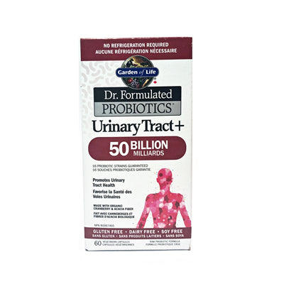 Garden of Life Dr. Formulated Urinary Tract+ 50 Billion Shelf Stable 60 VCapsules