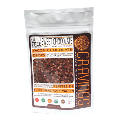 Uhtco Low Glycemic Yacon Chocolate Drops 50g