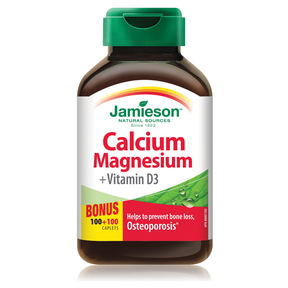 Jamieson Calcium Magnesium with Vitamin D 333 mg 100+100 Caplets