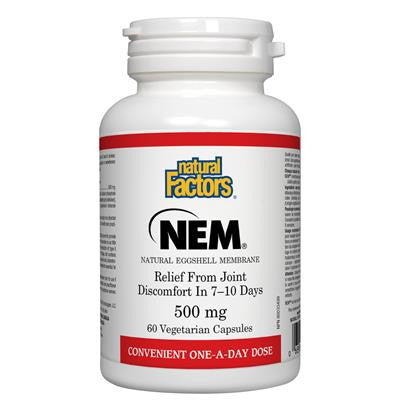 Natural Factors NEM® Natural Eggshell Membrane 500 mg 60 Vcapsules