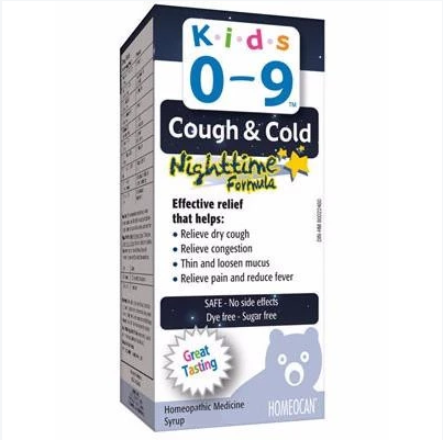 Homeocan Kids 0-9 Cough & Cold Nighttime Formula 250ml