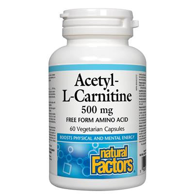 Natural Factors Acetyl-L-Carnitine 500 mg 60 VCaps