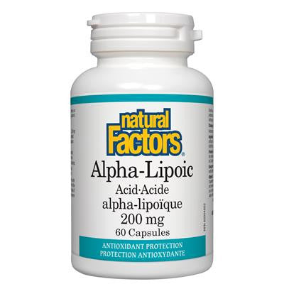 Natural Factors Alpha-Lipoic Acid 200mg 60 Capsules