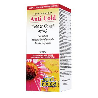 Natural Factors Echinamide Anti-Cold Cold & Cough Syrup 150 ml