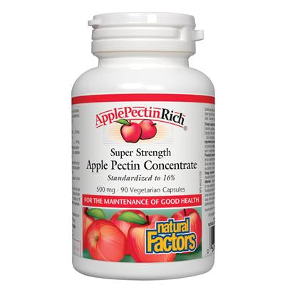 Natural Factors ApplePectinRich Super Strength Apple Pectin Concentrate 500mg 90 VCapsules